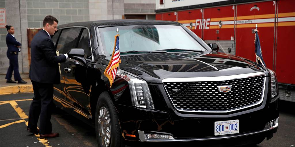 the beast trumps presidential limousine
