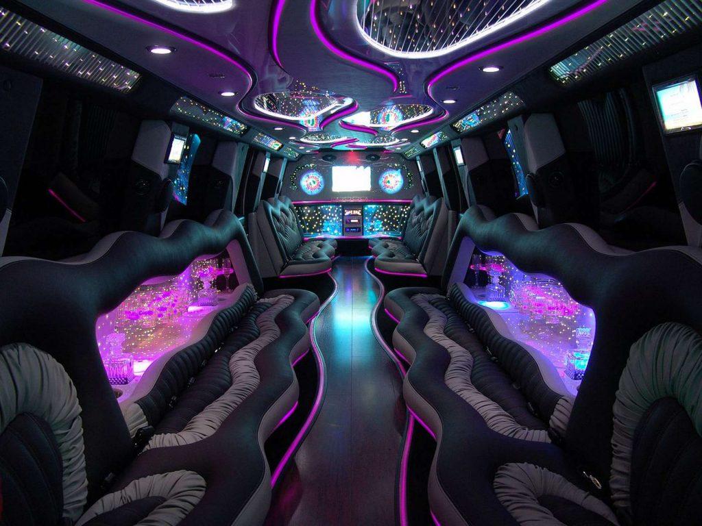 inside a limousine - limo interior