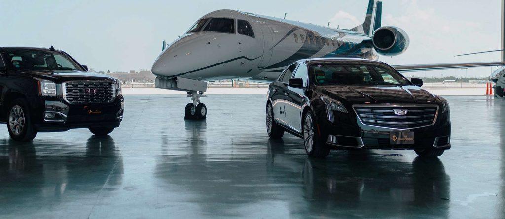 luxury transportation - private plane - limousine
