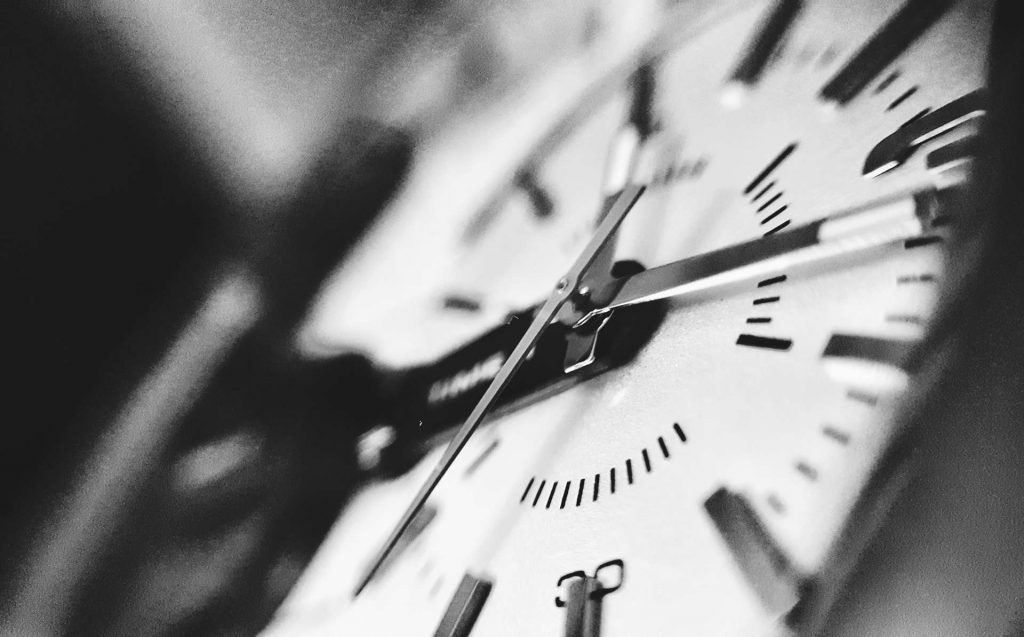 clock - punctuality - black and white clock
