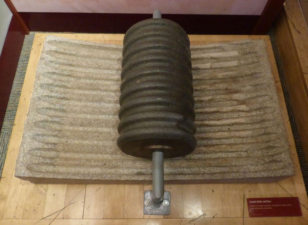 granite roller - granite base - conche - conching