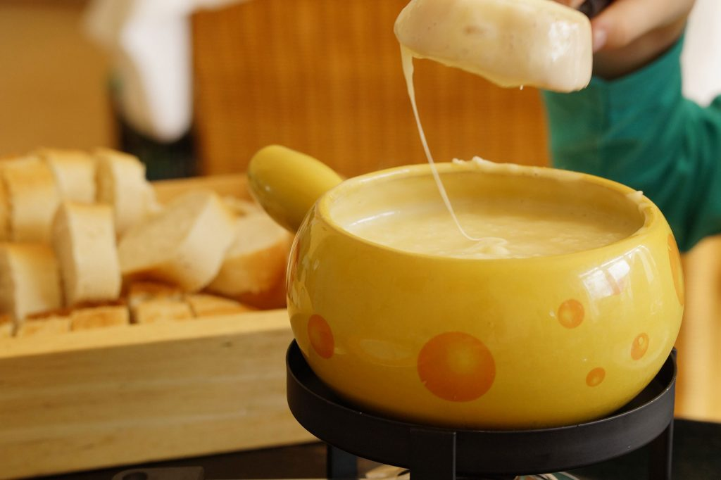 fondue - traditional food from switzerland
