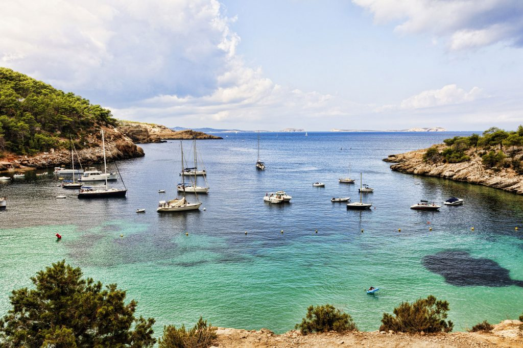 coastline - ibiza - boats - sea