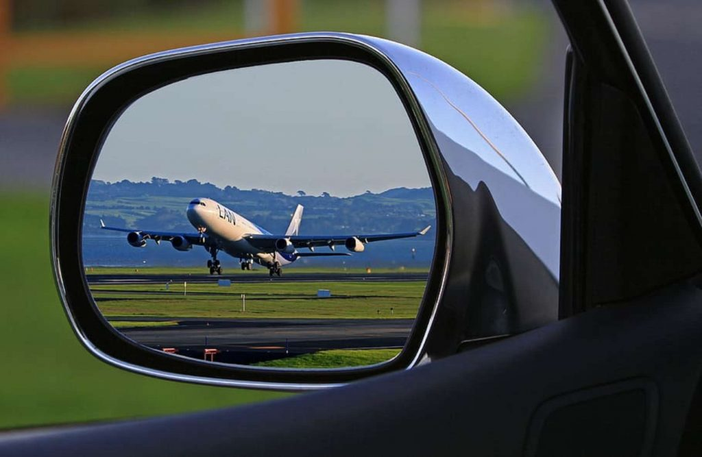 mirror - wing mirror- airplane - airport transfers - airport - private transfers