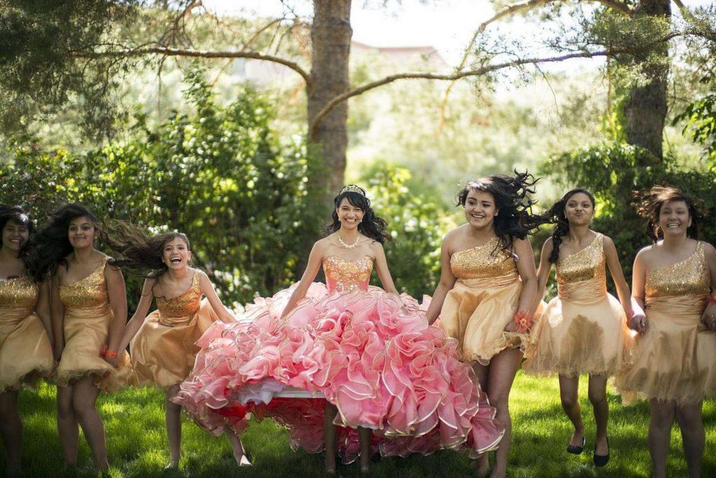 quinceanera - quinces- girls in elegant dresses