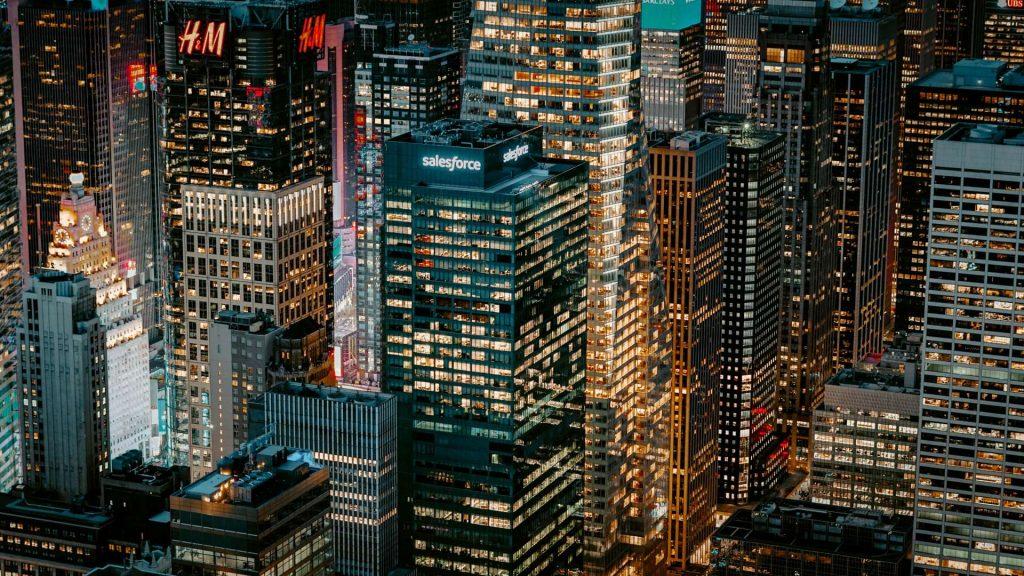 big city - buildings - urban - night in a big city